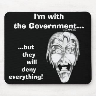 私は政府と…あります マウスパッド