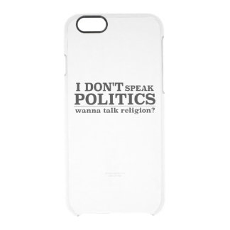 私は政治を宗教を話したいと思います話しません クリアiPhone 6/6Sケース