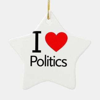 私は政治を愛します セラミックオーナメント