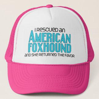 私は救助しましたアメリカFoxhound (メス犬)を キャップ