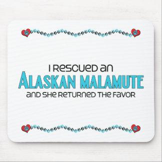 私は救助しましたアラスカンマラミュート(メス犬)を マウスパッド