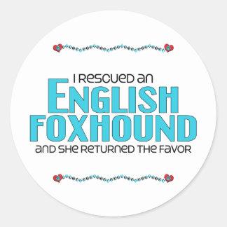 私は救助しましたイングリッシュ・フォックスハウンド(メス犬)を ラウンドシール