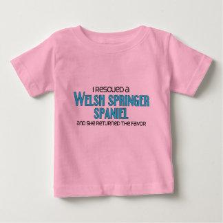 私は救助しましたウェールズのスプリンガースパニエル(メス犬)を ベビーTシャツ