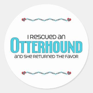 私は救助しましたカワウソ猟犬(メス犬)を ラウンドシール