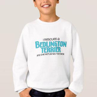 私は救助しましたベドリントン・テリア(メス犬)を スウェットシャツ
