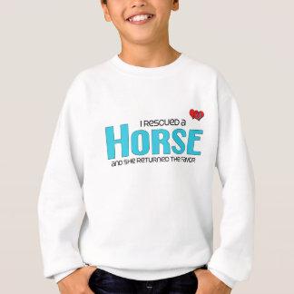 私は救助しました馬(雌馬)を スウェットシャツ