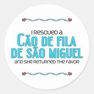 私は救助しましたCaoo de Fila de Sãoミゲル(メス犬)を ラウンドシール