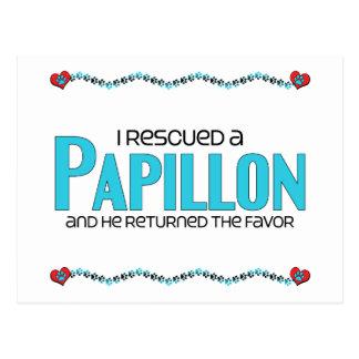 私は救助しましたPapillon (オス犬)を ポストカード