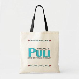 私は救助しましたPuli (メス犬)を トートバッグ