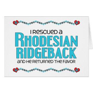 私は救助しましたRhodesian Ridgeback (オス犬)を カード