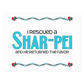 私は救助しましたShar-Pei (オス犬)を ポストカード