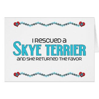 私は救助しましたSkyeテリア(メス犬)を グリーティングカード