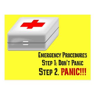 私は救急処置を知っていましたり及びあなたの緊急事態に答えてもいいです ポストカード