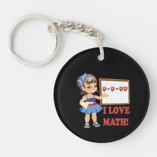 私は数学を愛します キーホルダー