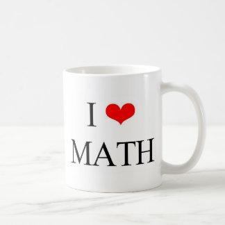 私は数学を愛します コーヒーマグカップ