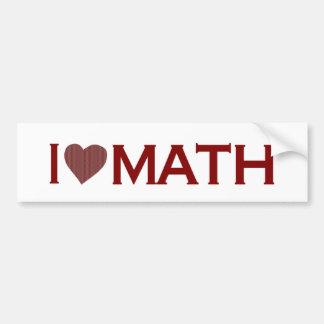 私は数学を愛します バンパーステッカー