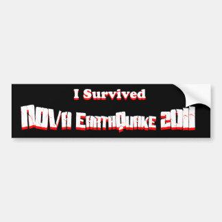 私は新星の地震2011年を生き延びました バンパーステッカー