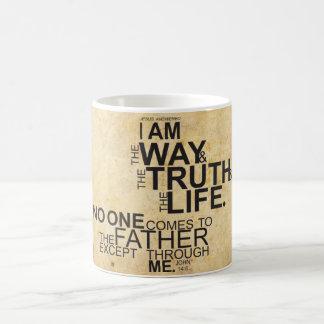 私は方法真実および生命マグです コーヒーマグカップ