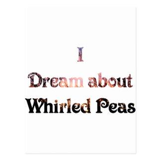 私は旋回させたエンドウ豆について夢を見ます ポストカード