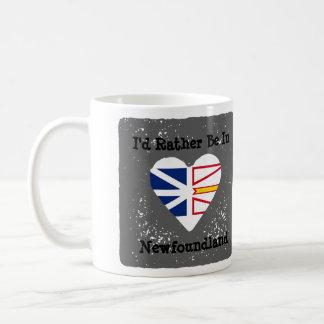 私は旗が付いているニューファウンドランドのマグにむしろあります コーヒーマグカップ