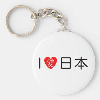 私は日本を愛します ベーシック丸型缶キーホルダー