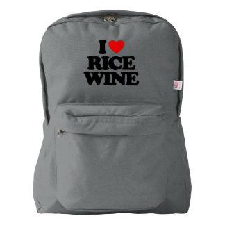私は日本酒を愛します AMERICAN APPAREL™バックパック