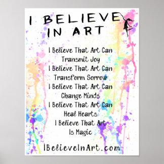 私は昇進芸術の声明で信じます ポスター