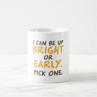 私は明るいあってもの上でまたは早くいいです。 一突き1 コーヒーマグカップ