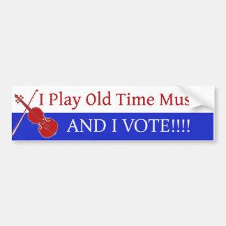 私は昔音楽を遊び、投票します バンパーステッカー