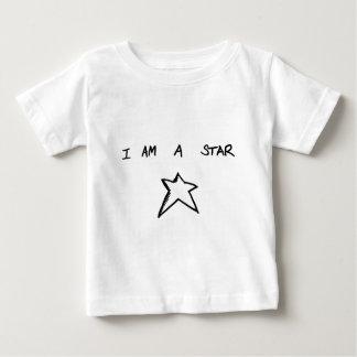 私は星の乳児のTシャツです ベビーTシャツ