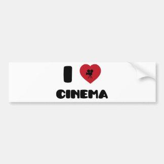 私は映画館を愛します バンパーステッカー