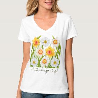 私は春のラッパスイセンのTシャツを愛します Tシャツ