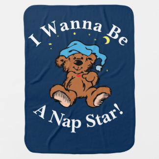 私は昼寝の星の眠い時間くまのデザインでありたいと思います ベビー ブランケット