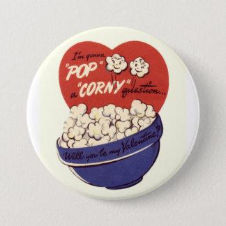 私は時代遅れの質問バレンタインボタンをぽんと鳴らそうと思っています 7.6CM 丸型バッジ