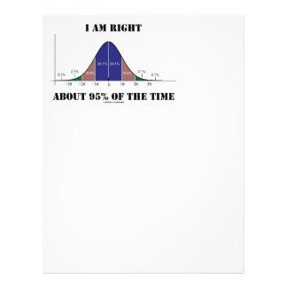 私は時鐘のカーブのユーモアの右の約95%才です レターヘッド