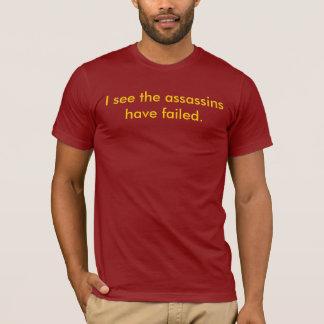 私は暗殺者が失敗するのを見ます(赤でオレンジ) Tシャツ