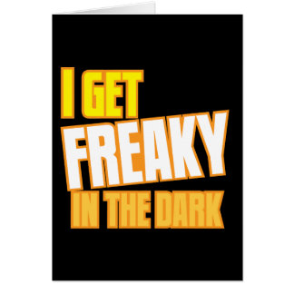 私は暗闇で気紛れになります カード