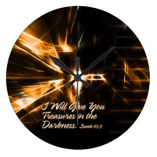 私は暗闇の宝物を与えます。 壁C ラージ壁時計