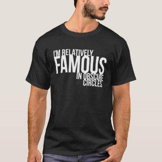 私は曖昧な円で比較的有名です Tシャツ