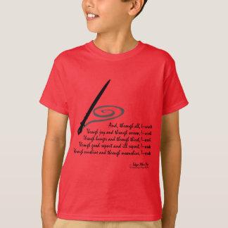 私は書きました Tシャツ