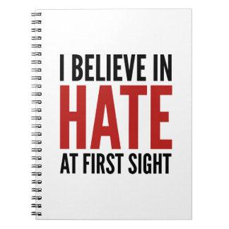 私は最初視力で憎悪で信じます ノートブック