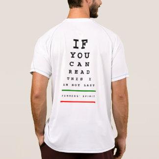 私は最後の視力検査表ではないです- SSの走に挑んで下さい Tシャツ