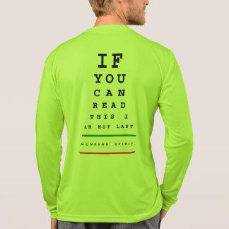 私は最後の視力検査表- LSのスポーツTekのランニングではないです Tシャツ