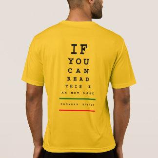 私は最後の走視力検査表-スポーツTek SSの走ることではないです Tシャツ