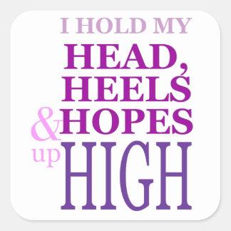 私は最高の上の私の頭部、かかと及び希望を保持します スクエアシール