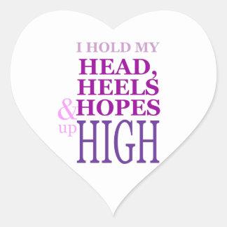 私は最高の上の私の頭部、かかと及び希望を保持します ハートシール