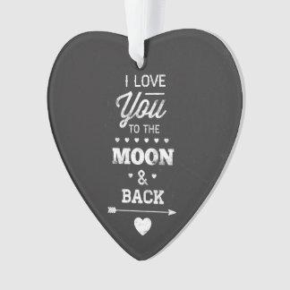 私は月および背部に愛します オーナメント