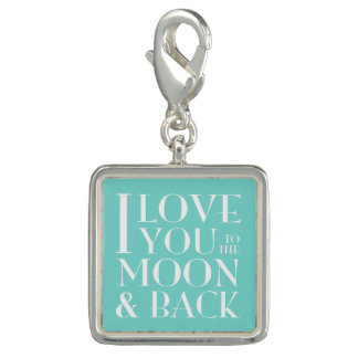 私は月および背部に愛します チャーム