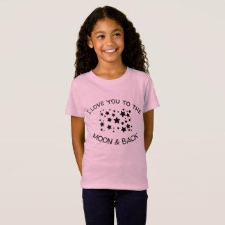 私は月および背部に愛します Tシャツ