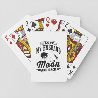 私は月および背部に私の夫を愛します トランプ